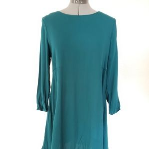 Dark green shift dress